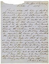 [John André] Early 19th Century Copy of André's Request to Washington