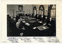 Truman, Harry S - With His 1951 Cabinet Members