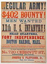 Rare Regular Army Recruiting Broadside
