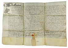 Vellum Document From the Reign of Charles I