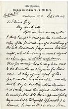 [Garfield, James A.] Letter on Garfield's Death, by Surgeon Joseph J. Woodward