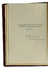 Clemens, Samuel / Mark Twain. The Writings of Mark Twain, Autograph Edition, Extra Illustrated and Manuscript