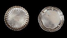 Par de bandejitas en plata