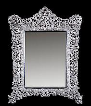 Espejo de sobremesa en plata