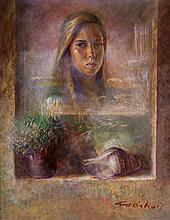 Retrato de joven con granadas