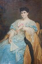 Retrato de dama elegante