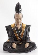Samurai en porcelana