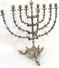 Bronze Dutch style Hanukkah menorah