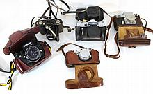Lot of five cameras