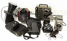 Lot of cameras, projectors and movie cameras