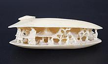 Old ivory carved shell