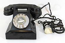 Bakelite rotary dial telephone