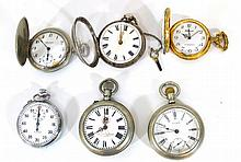 Lot of six pocket watches