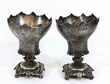 Pair of silver Ottoman spoon holders