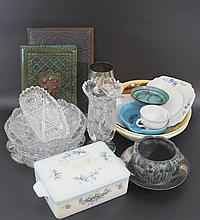 Lot of various glass and porcelain items