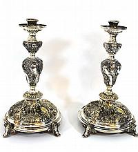 Pair of late 19th century WMF candlesticks