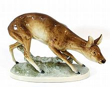 Porcelain figurine of a doe