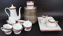 Porcelain coffee and cake set Hutschenreuther