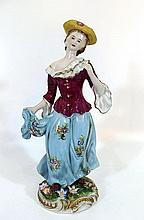 Porcelain figurine of a noble woman