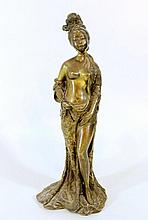 Bronze figurine - Oriental woman