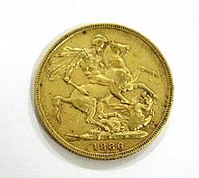 Gold British sovereigns