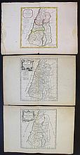 Lot of three old maps of the Holy Land