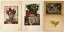 Lot of four lithographs by Israeli artists