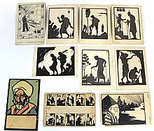 Lot of 10 postcards with illustrations of Bezalel artists
