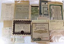 Lot of bank documents