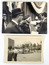 Lot of two photographs from the ceremony of the burial of Jabotinsky's remains in Israel