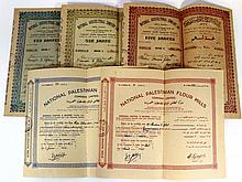 Lot of five share certificates