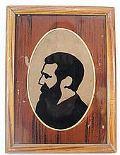 Painting on glass of Herzl