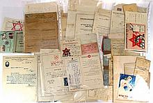 Lot of documents related to health organizations in Israel