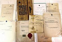 Lot of  autographs of important Israeli and Zionist figures