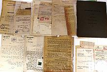 Lot of documents of the Jewish Agency and of other Jewish organizations
