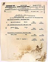 Document from the Jewish community in Harbin, China