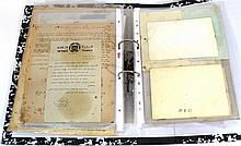 Lot of documents and items related to the Mishmar Ha-Ezrahi