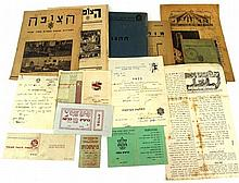 Lot of documents of youth movements