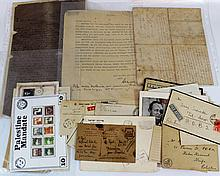 Lot of postcards, envelopes and letters