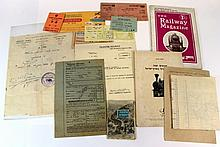 Lot of documents on the train in Eretz Israel