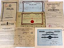 Lot of share certificates and insurance policies