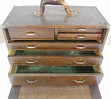 Wooden drawer set for tools/medals