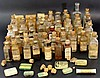 Lot of American pharmaceutical glass bottles