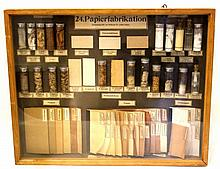 German display board on the process of paper making
