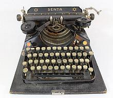 Typing machine by Senta with Hebrew letters