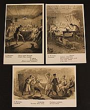 Lot of three anti-Jewish postcards