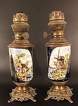 Lot of two oil lamps