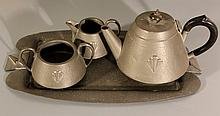 English set for coffee, Art-Deco