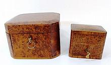 Lot of two wooden boxes