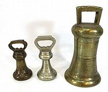 Lot of three C. 1900 weights